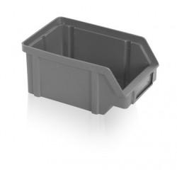 Zkosená bedna PP 1 kg - šedá