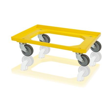 Podvozek pod přepravky 4 otočná kola - žlutá