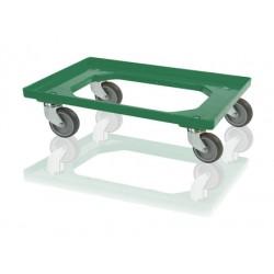 Podvozek pod přepravky 4 otočná kola - zelená