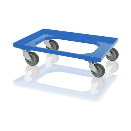 Podvozek pod přepravky 4 otočná kola -modrá