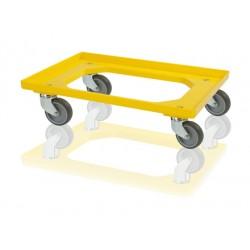 Podvozek pod přepravky 2 otočná kola - žlutá