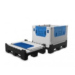 bigbox skládací 120x100x100 cm - 3 ližiny, PE