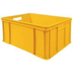 Euro přepravka žlutá 60x40x25 cm