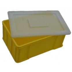 Euro přepravka žlutá plus víko 60x40x25 cm