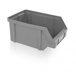 Zkosená bedna PP 40 kg - šedá