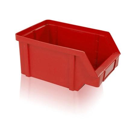 Zkosená bedna PP 40 kg - červená